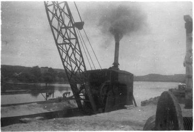 Original prints - Barge at wharf