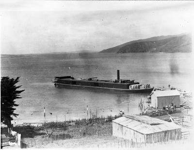 """""""Rawhiti"""" at Port Waikato"""