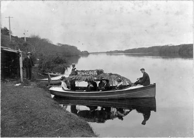 """Kia Ora"" moored on Waikato River"
