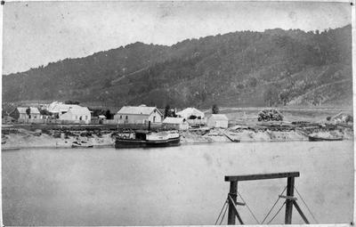 """Ngaruawahia c. 1875 with """"Bluenose"""" and """"Lily"""""""