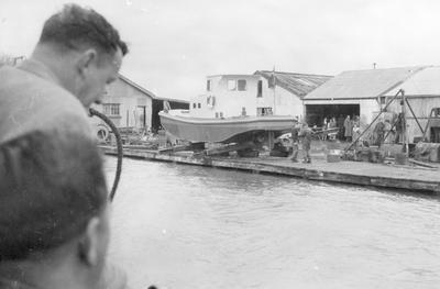 Launching of M. W. Wainui, Mercer