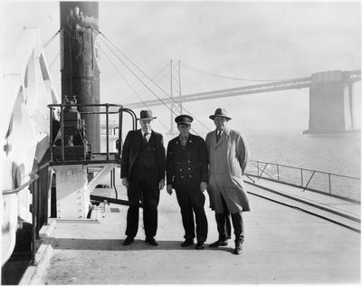 Ferry - San Francisco Harbour - Golden Gate Bridge behind - C Roose on left
