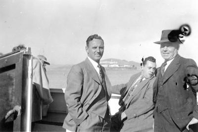 C Roose and 2 unknown men - San Francisco