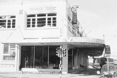 The fire damaged Valintines store