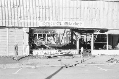 The gutted Bryce Street Market