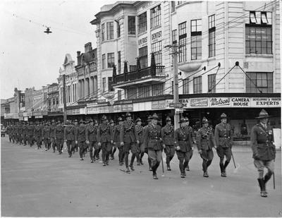 Soldiers marching - Victoria Street