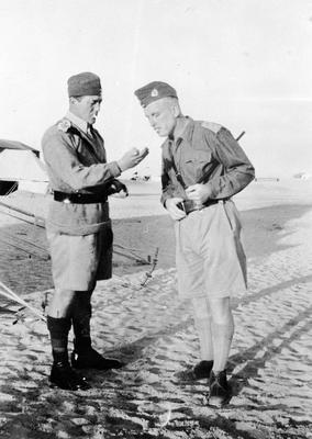 Western Desert - S T Nolan on the right