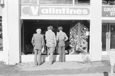 Inspecting Valintines after the Bryce Street Market fire