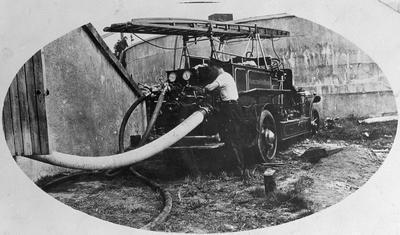Hamilton Fire Brigade at Reservoir