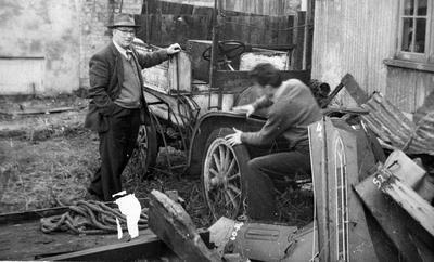 Restoring vintage car