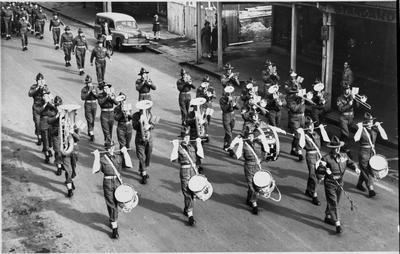 Korean veterans homecoming parade - army band