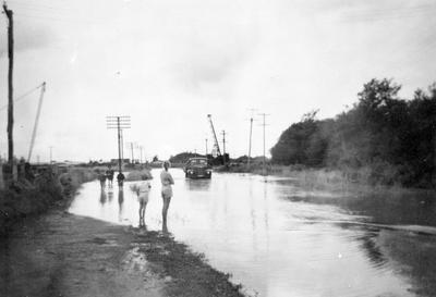 River Road, Huntly floods