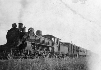 Locomotive with coal tender (usually a complete unit) and passenger carriages