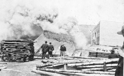 Rotowaro Mine on fire
