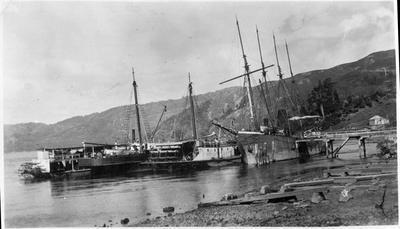 Roose Co. wharf at Port Waikato