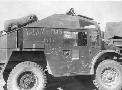 Armoured car, Egypt - Nolan's