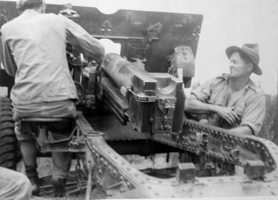 Loading small artillary gun, Egypt