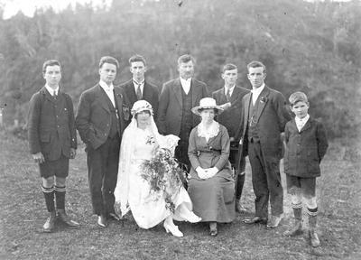 The Morgan family, wedding