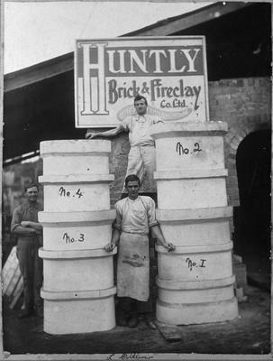 Huntly Brick - outside kiln with retorts