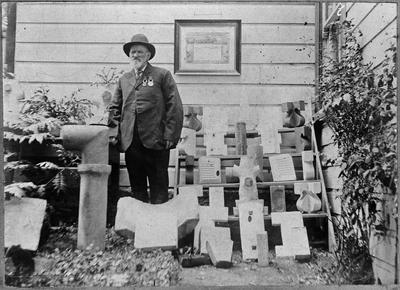 Huntly Brick - W Collins Sr. with exhibits - Christchurch