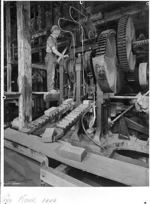 Huntly Brick - Geo Fisher on Whittaker press and brick stamper