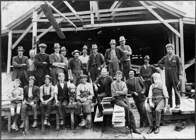 Sawmill crew - mill in the back