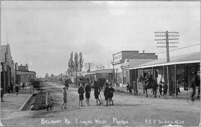 Belmont Road looking west, Paeroa