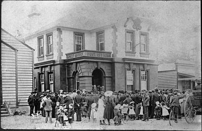 Opening Huntly Post Office