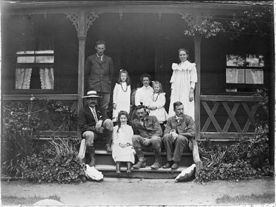 Group at front of house