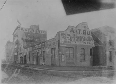A building owned by E.S. Combes in Albert Street, Auckland.