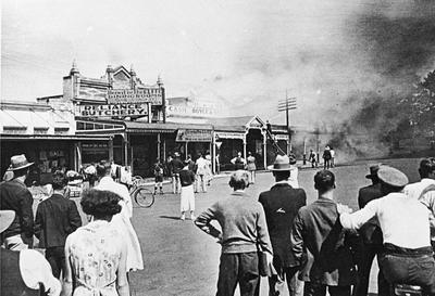 T. F. Richards & Co grocery shop fire