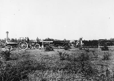 Jarret's traction engine and chaff cutter