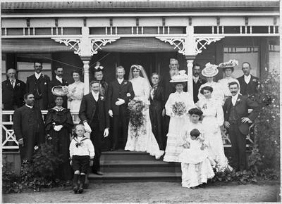 Wedding T B Dillicar, M Waterhouse c. 1912