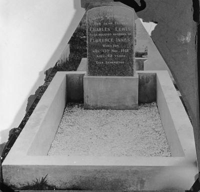 Charles Lewis and Florence Innes' grave