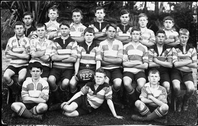 Boys rugby football team