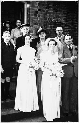 Wedding portrait N (Norman?) Innes & B Stronach