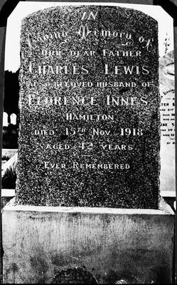 Headstone at grave of Charles Lewis Innes