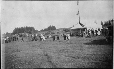 Group at Military Day, Hamilton East rifle range