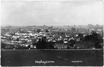 Hamilton - view from water tower c. 1910