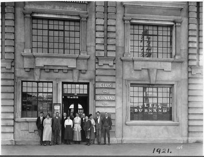 Head office staff of Ellis and Burnand, Hamilton 1921