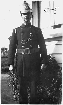 T Hunt in foreman's uniform