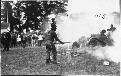 Mardi Gras Hamilton, 1921 - Fire display