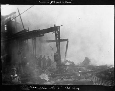 Hamilton Hotel fire 1922