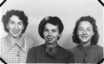 Susan Gordon and two other women - Hamilton WWII