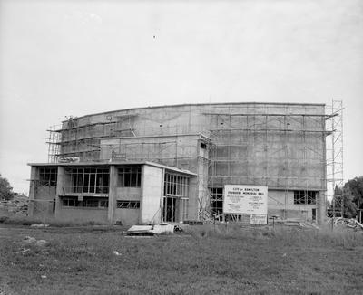 Founders Theatre under construction