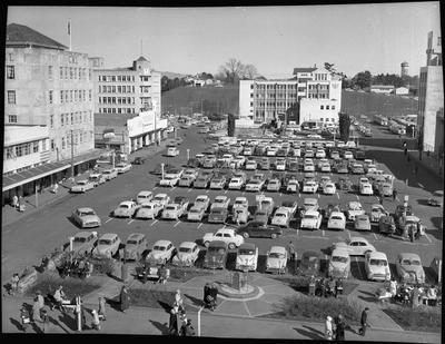 Garden Place as a car park