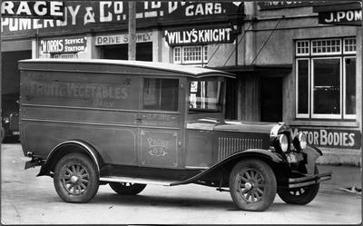 Van outside Pomeroy's works