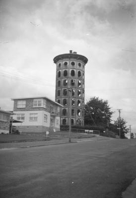 Tower Court flats and Frankton water tower