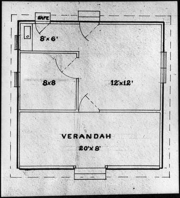 Ellis & Burnand - floor plan cottage - two rooms