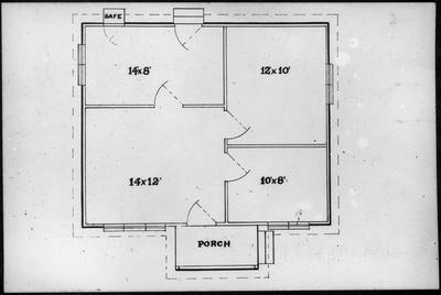 Ellis & Burnand - floor plan cottage - four rooms